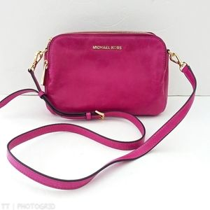 Vintage 90s Michael Kors pink leather crossbody